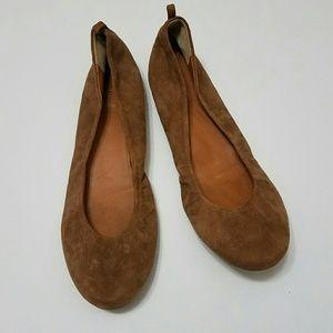 9.5 Brown Suede J. Crew Ballet Flats